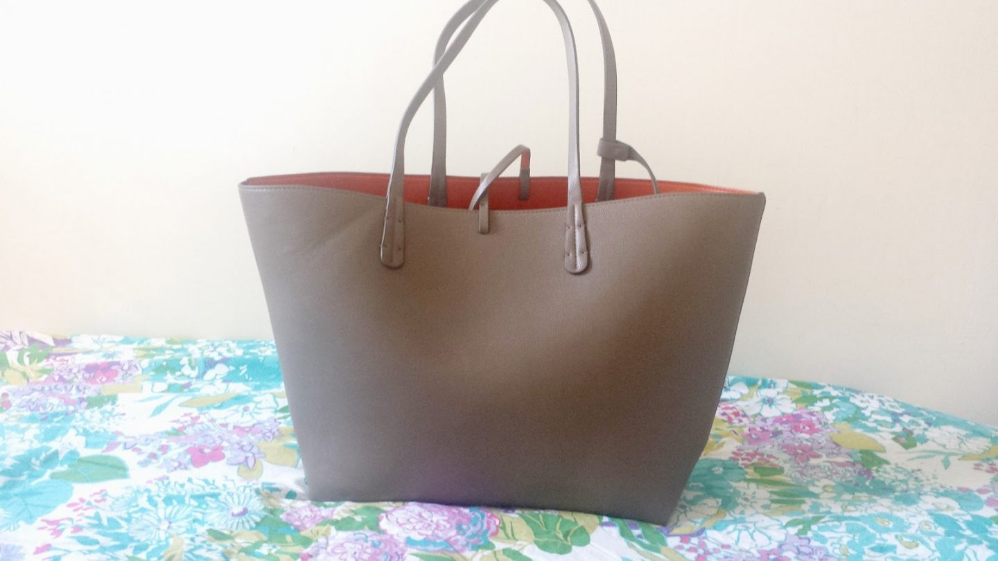 ZARA REVERSIBLE CONTRAST SHOPPER